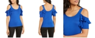 Thalia Sodi Cold-Shoulder Tiered-Sleeve Top, Created For Macy's
