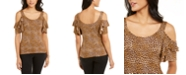 Thalia Sodi Cold-Shoulder Printed Top, Created For Macy's