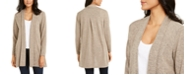 NY Collection Shawl-Collar Open-Front Cardigan