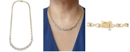 """Wrapped in Love Diamond Infinity Link 17"""" Statement Necklace (2 ct. t.w.) in 14k Gold-Plated Sterling Silver, Created For Macy's"""