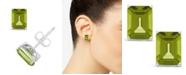 Macy's Peridot (3-3/8 ct. t.w.) Stud Earrings in Sterling Silver
