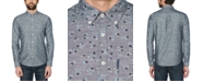 Original Penguin Men's Regular-Fit Stretch Floral Chambray Shirt