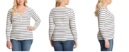 Jessica Simpson Trendy Plus Size Esme Ribbed Striped Top