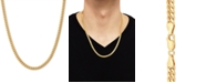 """Macy's Cuban Link 22"""" Chain Necklace in 18k Gold-Plated Sterling Silver"""