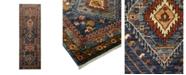 "Timeless Rug Designs One of a Kind OOAK1655 Navy 3' x 9'7"" Runner Rug"
