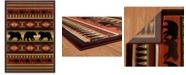 "Asbury Looms Designer Contours John Q. Native Bear 512 25829 912 Terracotta 7'10"" x 10'6"" Area Rug"