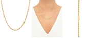 """Macy's Rope Link 18"""" Chain Necklace in 14k Gold"""