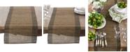 Saro Lifestyle Nubby Texture Border Design Woven Table Runner