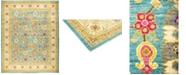 "Timeless Rug Designs CLOSEOUT! One of a Kind OOAK524 Teal 11'10"" x 14'10"" Area Rug"