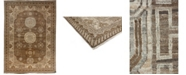 """Timeless Rug Designs CLOSEOUT! One of a Kind OOAK3604 Mocha 9'9"""" x 13'7"""" Area Rug"""