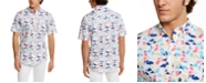 Club Room Men's Crane-Print Shirt, Created for Macy's