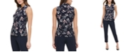 Tommy Hilfiger Button-Up Floral Print Sleeveless Top