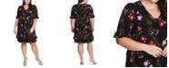 CeCe Plus Size Ruffled Floral-Print Dress