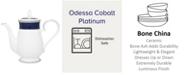 Noritake Odessa Cobalt Platinum Coffee Server, 48 Oz.