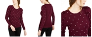 INC International Concepts INC Embellished Puff-Sleeve Sweater, Created For Macy's