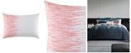 Vera Wang Blurr White Uneven Lines Throw Pillow