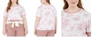 Love Tribe Trendy Plus Size Toile Ringer T-Shirt