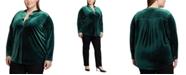 Lauren Ralph Lauren Plus Size Velvet Blouse