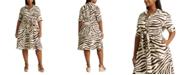 Lauren Ralph Lauren Plus-Size Print Linen Shirtdress