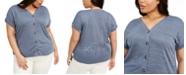 Belldini Plus Size V-Neck Top