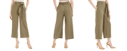 Calvin Klein Tie-Belt Cropped Pants
