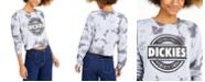 Dickies Junior's Logo Tie-Dye Crop Sweatshirt