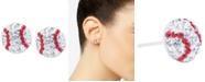Giani Bernini Crystal Baseball Stud Earrings in Sterling Silver