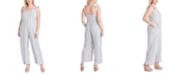 Jessica Simpson Trendy Plus Size Martina Printed Jumpsuit