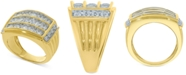 Macy's Mens Diamond Three-Row Ring (3 ct. t.w.) in 10k Gold