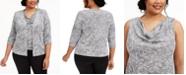 Alex Evenings Plus Size Paisley-Print Sparkle Jacket and Top