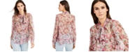 INC International Concepts INC Sheer Bow-Tie Blouse, Created for Macy's
