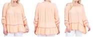 Fever Plus Size Crochet-Trim Top
