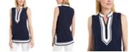 Charter Club Seersucker Woven Tunic Top, Created for Macy's