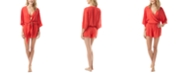 Vince Camuto Convertible Tie-Front Romper Cover-Up