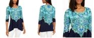 JM Collection Rhinestone Trim 3/4-sleeve Tunic, Created for Macy's