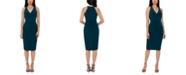 XSCAPE V-Neck Bodycon Dress