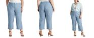 Lauren Ralph Lauren Plus Size Wide-Leg Chambray Pants