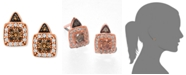 Le Vian Chocolate by Petite Chocolate and White Diamond Stud Earrings (1/3 ct. t.w.) in 14k Rose, Yellow or White Gold