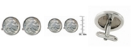 American Coin Treasures 1913 First-Year-Of-Issue Buffalo Nickel Bezel Coin Cuff Links