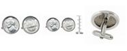 American Coin Treasures Silver Jefferson Nickel Wartime Nickel Bezel Coin Cuff Links
