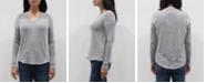 COIN 1804 Women's V-Neck Long Sleeve Dolman Top