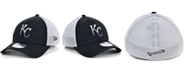 New Era Men's Kansas City Royals Black White Gradient Trucker 39THIRTY Cap