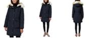 Sam Edelman Faux-Fur-Trim Hooded Puffer Coat