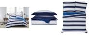 London Fog Watkins Stripe 3 Piece Comforter Set, King