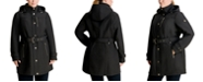 Michael Kors Plus Size Hooded Belted Raincoat, Created for Macy's