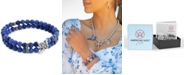 American West Soladite Bead Bird Stretch Bracelet in Sterling Silver