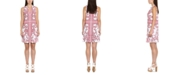 Michael Kors Plus Size Paisley-Print Ruffle-Neck Dress