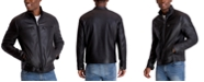 Michael Kors Men's Perforated Faux Leather Moto Jacket