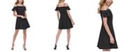 kensie Appliqué-Detail Fit & Flare Dress