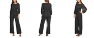 DKNY Pleated-Sleeve Jumpsuit